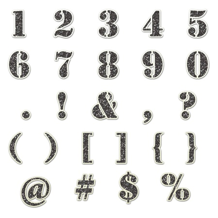 numbers: Grey Glitter Number Stencil Stock Photo