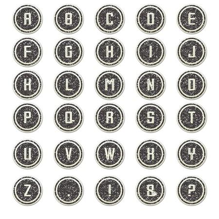 Grey Glitter Round Alphabet