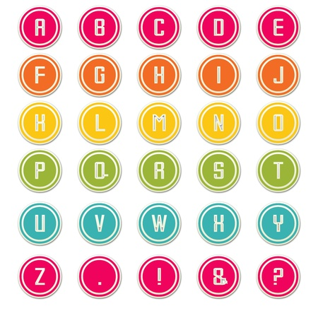 Multi-Color Round Alphabet