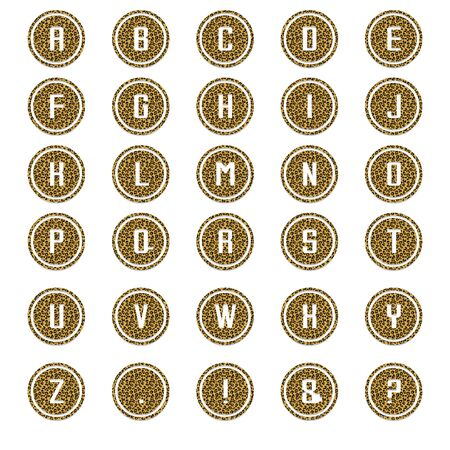 Leopard Round Alphabet Stock Photo