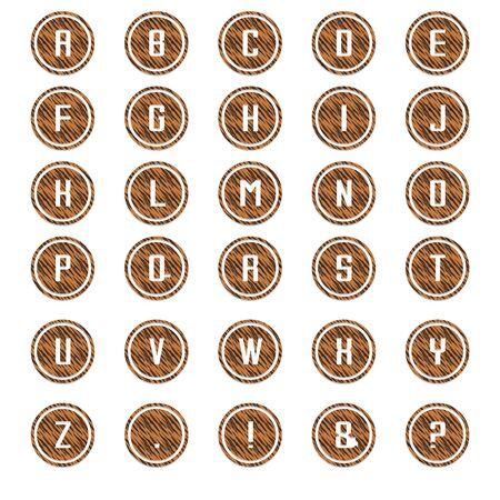 Tiger Round Alphabet