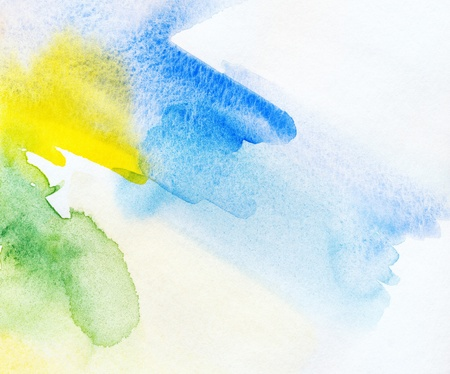 Abstract watercolor handpainted background  Stock Photo - 13165561