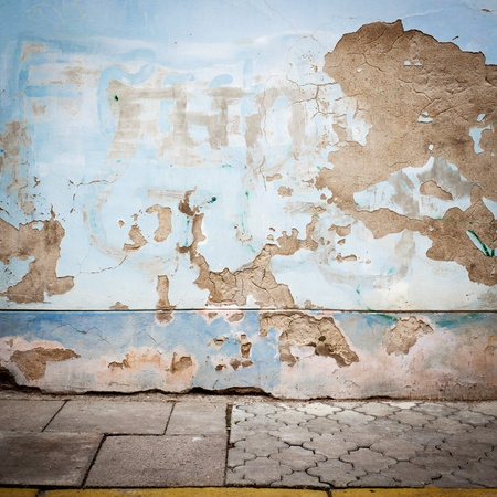 Urban grungy street wall, may be used as background or texture Stock Photo - 14035919
