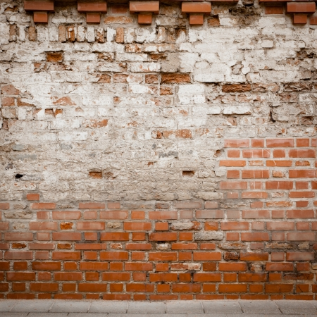 Urban grungy street wall, may be used as background or texture Stock Photo - 14035920