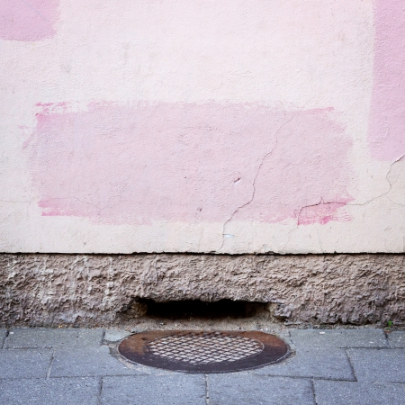 Urban grungy street wall, may be used as background or texture Stock Photo - 14035921