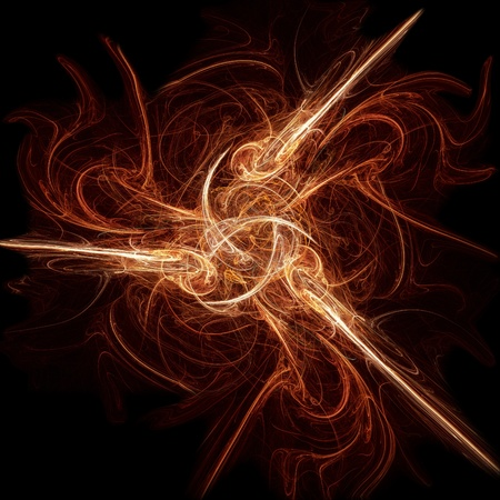 abstract yellow fiery fractal background photo