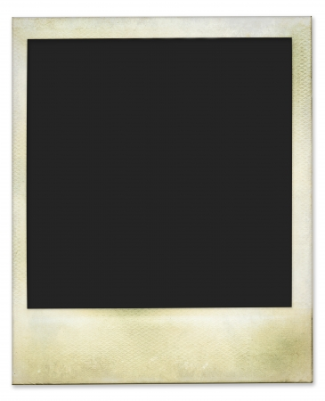Aged and dirty instant photo frame, isolated