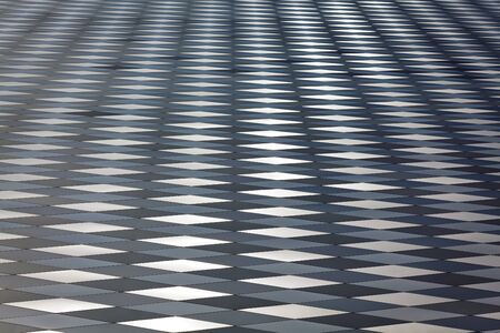 Nice abstract texture made from metal plates, may be used as background, quite shallow depth of focus Stock Photo