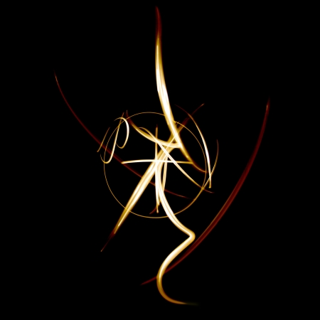 Abstract fiery light painting, not digitaly generated