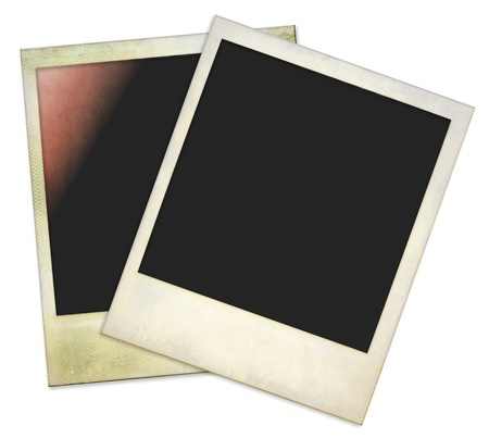 Aged and dirty instant photo frames, isolated