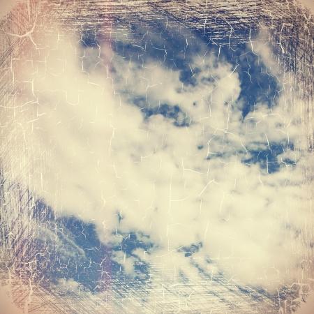 Retro image of a cloudy sky