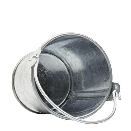 A simple tin bucket, isolated Standard-Bild