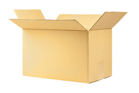 Simple brown carton box without any writings Stock Photo