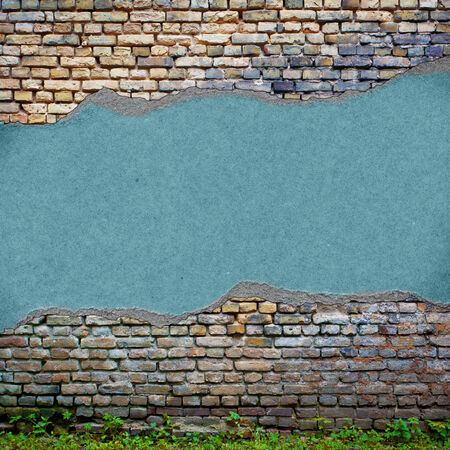 eroded: Urban grungy street wall, may be used as background or texture Stock Photo