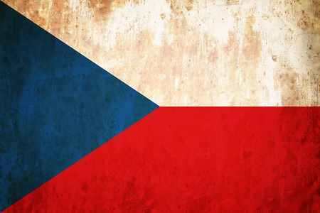 Grunge flag of European country Czech