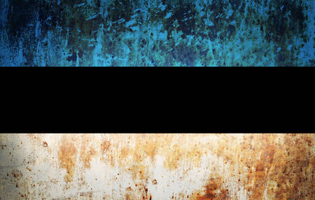 Grunge flag of European country Estonia photo