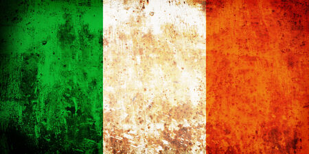 Grunge flag of European country Ireland photo
