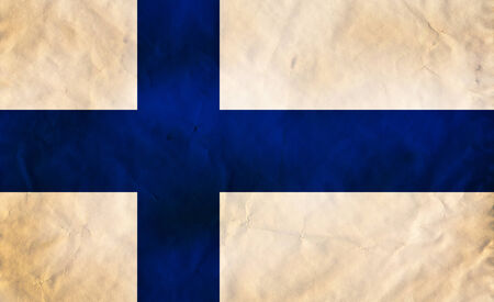 Grunge flag of European country Finland photo