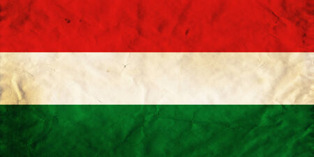 Grunge flag of European country Hungary photo