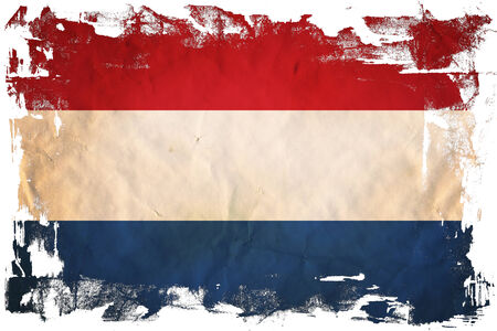 Grunge flag of European country Netherlands photo