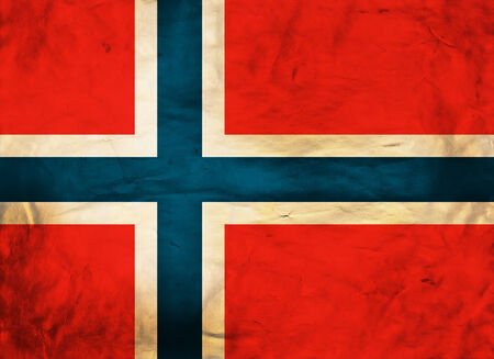 Grunge flag of European country Norway photo
