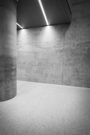 interior room: Concrete room interior