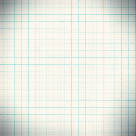 Graph paper with quartered sub sections. Stock Photo