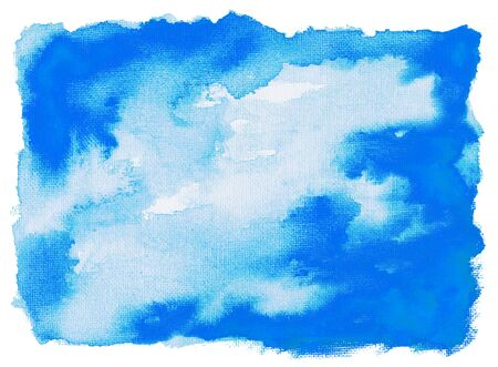 Isolated watercolor on canvas background, hand painted.