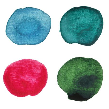 수채화 손으로 여러 가지 빛깔의 점들을 그린. 외딴. 나 자신을 만들었 어.