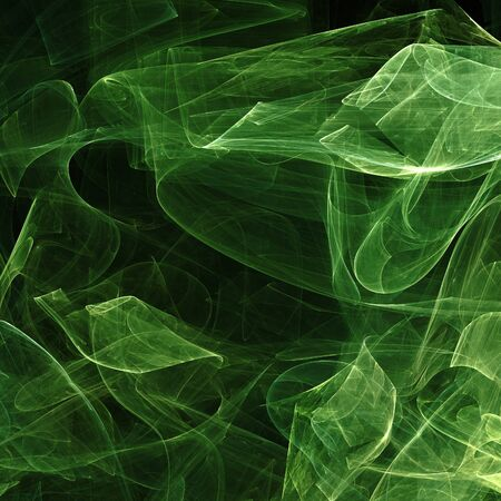 abstract green fractal background Stock Photo