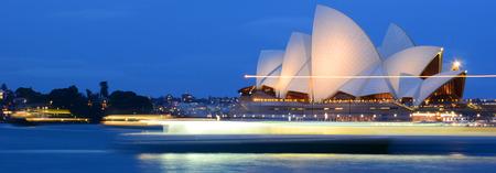 sydney opera house: The beautiful night scene of Sydney Opera House. Long exposure cause the sea surface looks smooth.