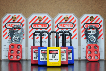 Lock out & Tag out , Lockout station,machine - specific lockout devices ,safety sign