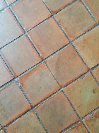 Clay Tile Flooring Texture Walkway In Hotel Stock Photo Picture And