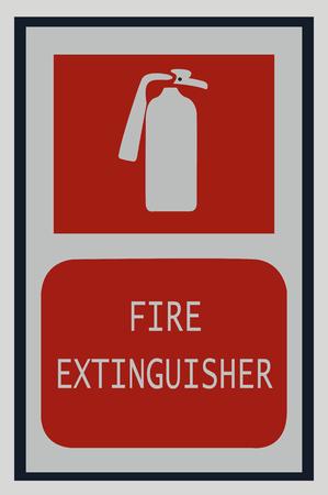 fire extinguisher signs , fire symbol for protection Illusztráció