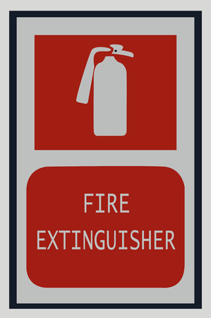 fire extinguisher signs , fire symbol for protection Vectores