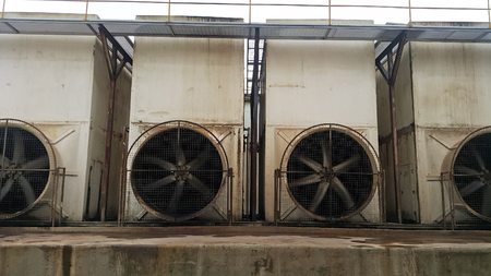 Old Cooling water tower for effluent treatment  system and environment treatment