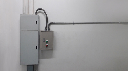 electrical part and accessories in the control cabinet , control and power distributor,lockout ,tagout