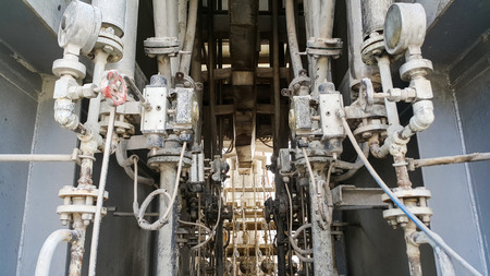 Valves and electric equipment dirty affect from dust and heat  environment  in old factory