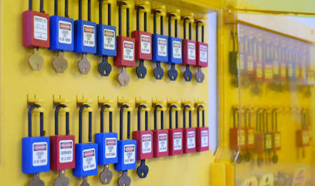 Lock out & Tag out, Lock out station, machine - specific Lock out devices , Lock out for electrical maintenance
