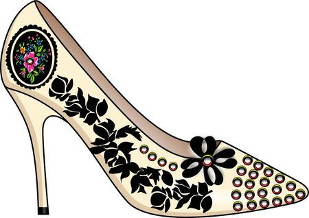 shoes cartoon: Shoe fashion Illustration