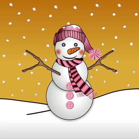 sciarpe: Pupazzo di neve