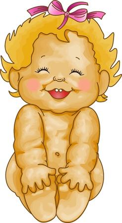 Baby Girl Smiling Stock Vector - 11809318