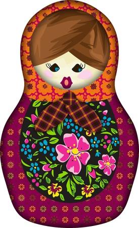 wooden doll: Matrioska  Illustration