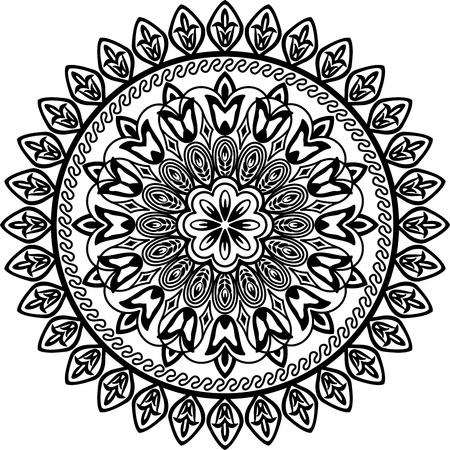 Cercle floral géométrique