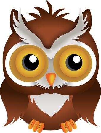 cartoon owl: Nocturnal Owl