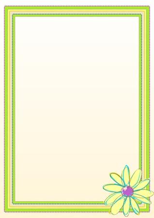 margin: Flower Border Frame