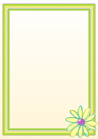 margen: Frame Border Flower