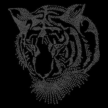 silueta tigre: Tiger Glitter