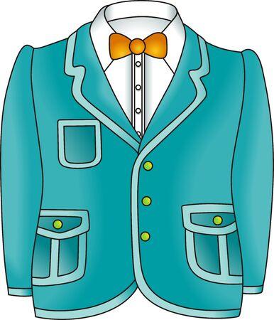 white coat: Man Jacket Illustration
