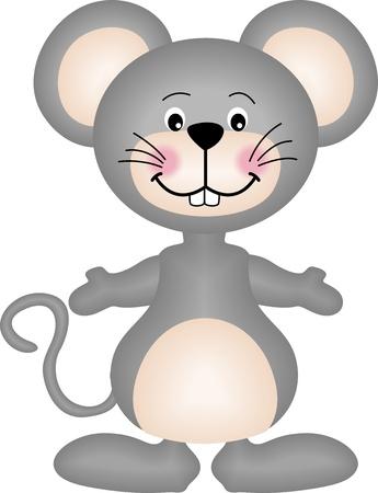 raton caricatura: Gris ratón